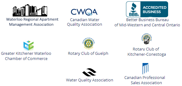 Sponsors of Canadian Water Conditioning and their logos